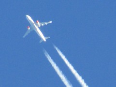 SAS SK2538 Airbus A320-251 Dublin To Copenhagen LN-RGM. Seen Over Selby North Yorkshire (Gary Chatterton 7 million Views) Tags: scandinavianairlinessystem sas sk2538 airbusgroup airbusa320 lnrgm dublin copenhagen aviation airliner jetliner aircraft commercialairline contrails highinthesky plane flickr canonpowershotsx430 photography