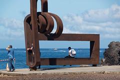 Los Cristianos, Tenerife, Canary Islands (wildhareuk) Tags: canaryislands canon canoneos500d metal people promenade sea seascape spain tamron18270mm tenerife tenerife2019 water artwork rust tamron img9501dxo
