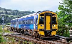158702 @ Dingwall (A J transport) Tags: class158 dmu 158702 scotland scotrail saltirelivery diesel railway kyleline farnorthline express trains railways