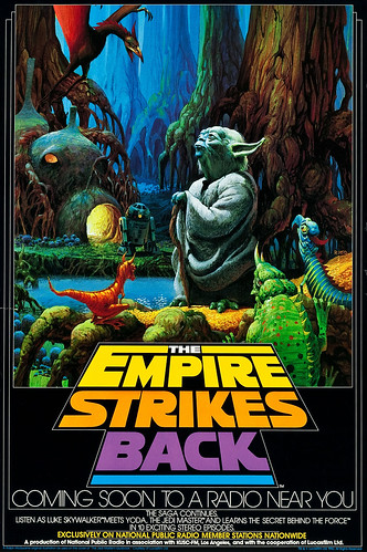 The Empire Strikes Back NPR radio broadcast poster by Ralph McQuarrie, 1982
