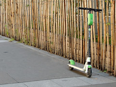 Scooter fence (Shahrazad26) Tags: step scooter fence hek barrière parijs paris frankrijk france frankreich