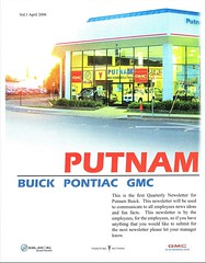 Putnam Buick-Pontiac-GMC, Burlingame CA, 2006 (aldenjewell) Tags: putnam pontiac buick gmc dealership burlingame ca newsletter april 2006