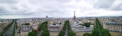 Panorámica de París desde el techo del arco del Triunfo. (Josep Lluís Luque) Tags: paris france francia arc de triomphe eiffel tour montparnasse