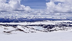 Absaroka Range from the Beartooth Highway (Mary Ann Whitney-Hall) Tags: wyoming montana yellowstone mountains range absaroka frozen lakes snow