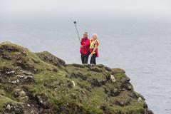 Selfies on the edge (Frank Fullard) Tags: frankfullard fullard candid street portrait edge cliff sea ocean atlantic dangerous unwise color colour achill mayo irish ireland tourist visitorramble walker