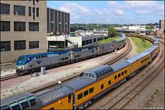 AMTK 203 (Justin Hardecopf) Tags: up amtrak 203 amtk railroad train nebraska business unionpacific omaha passenger excursion california 6 special dome zephyr ge p42 coloradoeagle b tower interlocking