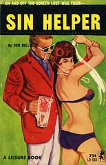 Leisure Books 663 - Don Bellmore - Sin Helper (swallace99) Tags: leisurebooks greenleaf vintage 60s sleaze paperback gga martini pearlnecklace