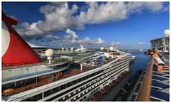 Cruise Ships in Port (Looking for something to post!!) Tags: canon eos 70d 1022mm symphonyoftheseas royalcaribbean rccl cruise caribbean nassaubahamas psp2019 paintshoppro2019 efex topazstudio topaz cruiseship carnival