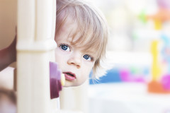 who's ringing my bell? (rockinmonique) Tags: tamron90 child boy portrait high key blueeyes cute adorable moniquewphotography canon canont6s tamron copyright2019moniquewphotography