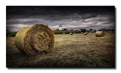Hay Bales and a Windmill (Deek Wilson) Tags: haybales windmill ballycopeland field landscape millisle farmersfield northernireland