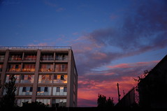 Firestorm (HiJinKs Media...) Tags: fire sky sunset reflections colours colors colori clouds colores city bristol colour color colore windows building architecture geometric geometry abstract lines inferno ablaze silhouettes trees walls