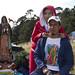 Peregrinos en camino a la basílica de Guadalupe.
