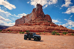 Monitor Rock Formation (Steve Corey) Tags: jeep doubletrack monitorformation utah moab redrock sandstone backroads