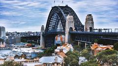 The Bridge (Miradortigre) Tags: bridge puente harbour australia arch arco sydney bay bahia puerto metal acero estructura structure city ciudad urban view vista skyline