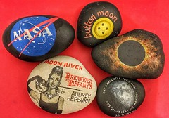 Getting some moon rocks ready to hide on 20th July for the 50th Anniversary of the moon landings (Andreadm66) Tags: moon space cosmos moonriver solareclipse paintedrocks art handpainted moonlanding