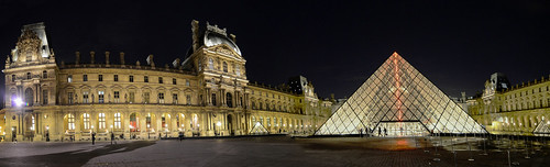 Stitched Panorama of The Louvre - The most visited museum of the world