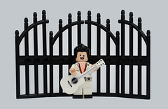 Playing At The Gates (MinifigNick) Tags: elvis the king theking
