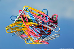 WHY. HOW... (cotton.candy581) Tags: paperclips hsos smileonsaturday colours multicoloured entangled