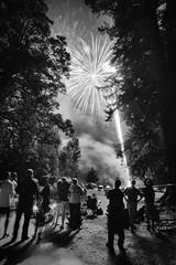 Watchers (kwphotos.com) Tags: fourth july fireworks independce celebration crowd watching oveserving long exposure samyang 12mm fuji xt2 night trees park maple valley washington lakewilderness monchrome black white bw blackandwhite