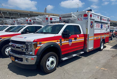 FDNY Haz-Tac Battalion Rescue Medics Ford F-550 Ambulance (NY's Finest Photography) Tags: highway patrol state nypd fdny ems police law enforcement ford dodge swat esu srg crc ctb rescue truck nyc new york mack tbta chevy impala ppv tahoe mounted unit service squad dcu windshield road