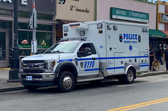 NYPD ESU Emergency Medical Squad Ford F-450 Ambulance (NY's Finest Photography) Tags: highway patrol state nypd fdny ems police law enforcement ford dodge swat esu srg crc ctb rescue truck nyc new york mack tbta chevy impala ppv tahoe mounted unit service squad dcu windshield road