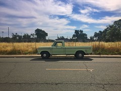 For Ambers Waves of Grain (misterbigidea) Tags: city urban green classic field truck golden dusk pickup lime americathebeautiful streetview workhorse dailydriver ford parking parked custom