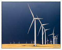 Turbines To the Horizon (and Beyond) (zen3d ☯) Tags: turbine turbines windturbine windturbines power stormy toinfinityandbeyond horizon palouse storm clouds landscape giants