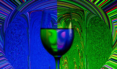 Blue & Green & Glass (DDM Imaging) Tags: art artist abstract abstracts illusion color colors colour colours galss water pattern photoshop blue green reflection mirror invert