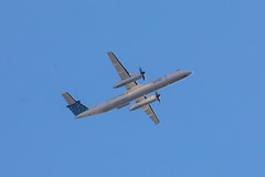 Porter Airlines Dash 8-400 (wanderinginsomnia) Tags: usa dash8400s virginia dullesairport dehavillanddashes ashburn dullesnorthtransitcenterparkride dh8ds porterairlines iadairport