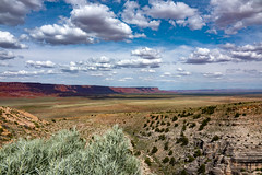 somewhere ... someday (mariola aga) Tags: arizona cliffs plateau sky clouds shadows landscape nature wideangle