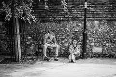 Just hangin' (gwpics) Tags: people youth streetphotography mono winchester outside england english editorial everydaylife hampshire hants lifestyle monochrome person society bw blackwhite blackandwhite exterior outdoors streetlife
