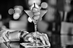 drink (boxerrod) Tags: monochrome martini blackwhite whiteblack bokeh bokehphotography glass hand cocktail drink bar restaurant nikoncamera man nikond7200 nikondlsr sigmaartlens sigma1485mm houstondowntown houstonbar