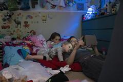 Luna Day 2073 (evaxebra) Tags: luna ryan ash siblings night watching tablet play sleep sleeping cute bed