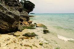 Coin de plage, Okinawa (8pl) Tags: mer plage océan okinawa japon eau maritime roche couleurs vert arbre bleu sablefin