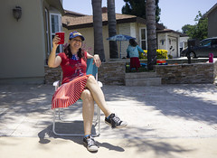 Day 4537 (evaxebra) Tags: 365days july4 july fourth 4th blackmilk beer chair driveway hat converse red white blue front