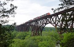 SD60s on the Soo Line High Bridge (wc_sd45_7500) Tags: cn sd60 emd soo line high bridge somerset saint croix minneapolis sub wisconsin minnesota l516 canadian national wc wcl wccl locomotive train trains arcola