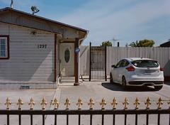 Alviso, California (bior) Tags: alviso sanjose california pentax645nii pentax645 6x45cm portra160vc portra kodakportra mediumformat 120 car gate driveway door focus st ford