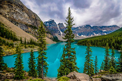 Moraine Lake, Alberta (Christy Turner Photography) Tags: lake nature morainelake lakelouise banffnationalpark canada turquoise blue rockies