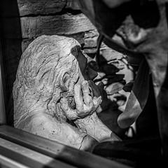Thinking Thing (walden.gothere) Tags: nikond80 nikon nikkor nikkor35mm nocolor black blackandwhite blackwhite bretagne bw streephotography street sculpture statue 35mm 35mmf18 35 portrait primelens prime