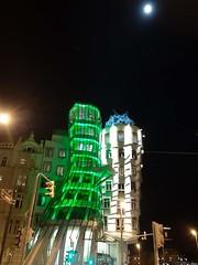 Green & Dancing/ lover (Ladyhelen_) Tags: prag gingerfred tancicidum green dancinghouse night nightinthecity citynight sky moon light words verses poem poetry