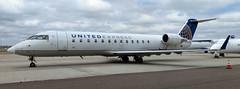 United Express (Skywest) Bombardier CRJ200 (Sentinel28a1) Tags: united unitedairlines unitedexpress skywest bombardier crj200 greatfallsinternationalairport greatfalls airliner regionaljet aircraft