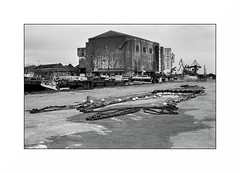 Lorient, zone portuaire (Punkrocker*) Tags: nikon fm2n nikkor 50mm 5014 préai film kodak trix 400 nb bwfp monochrom bnw port harbor people boat street fisherman lorient keroman morbihan bretagne brittany breizh france