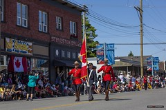Steveston Canada Day Parade 2019 (Clayton Perry Photoworks) Tags: vancouver bc canada richmond steveston explorebc explorecanada canadaday parade stevestonsalmonfestival costumes crowds people police rcmp redserge flag