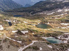 Laghi di Variola - Alta Val Bognanco (Italy) (Andrea Moscato) Tags: andreamoscato italia mountain montagna landscape light luce paesaggio parco park shadow nature natura natural naturale view vista vivid blue white green day snow alpi alps water freshwater lake ice stones rock lago hiking trail overlook drone dji mavic air quadcopter fly trekking valle valley vallata