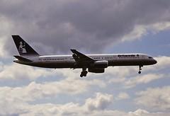 G-BYAL B757 Britannia BHX 03-08-93 (cvtperson) Tags: gbyal boeing 757 britannia birminham airport bhx egbb