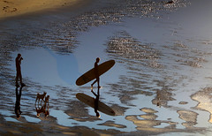 how many dogs can you see? (atomareaufruestung) Tags: morocco africa surfing surf beach holiday walking board dog animal pets water reflection silhouette 2018 canon canoneos7dmarkii