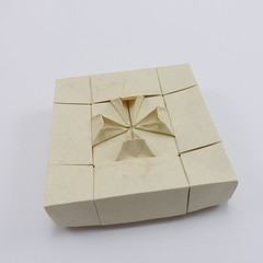 Box with Cross Pattee IV (Michał Kosmulski) Tags: origami paperfolding papiroflexia handmade paperart box tessellation crosspattee crosspatty crossformee crossformy heraldry michałkosmulski elephanthidepaper
