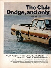 1974 Dodge Club Cab Pickup Truck Chrysler Page 1 USA Original Magazine Advertisement (Darren Marlow) Tags: 1 4 7 9 19 74 1974 d dodge c club cab chrysler corporation carcool collectible collectors classic a automobile m mopar v vehicle u s us usa united states p pickup t truck american america 70s