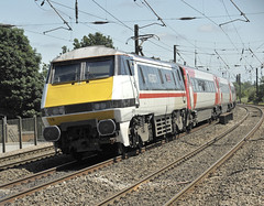 LNER 91119 (martin 65) Tags: travel public electric train diesel yorkshire transport rail railway trains northern railways eastcoast pacer doncaster azuma southyorkshire 144 hst mainline lner 43s 91s