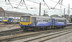 Northern 144012 and Northern CAF 331105 (martin 65) Tags: doncaster southyorkshire yorkshire hst azuma 91s 144 pacer eastcoast mainline railways railway rail train trains transport travel public electric diesel 43s lner northern